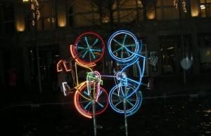 Fahrradkunst in Berlin.